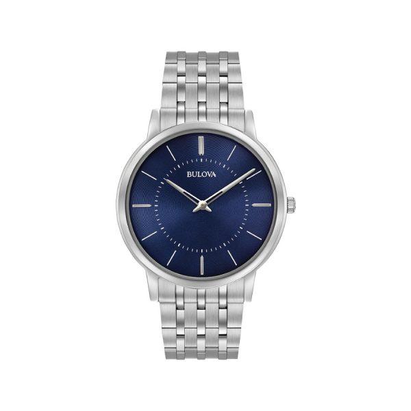 Relógio Bulova caixa e pulseira aço mostrador azul