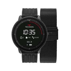 Smartwatch Technos Connect Id Preto L5AA1P
